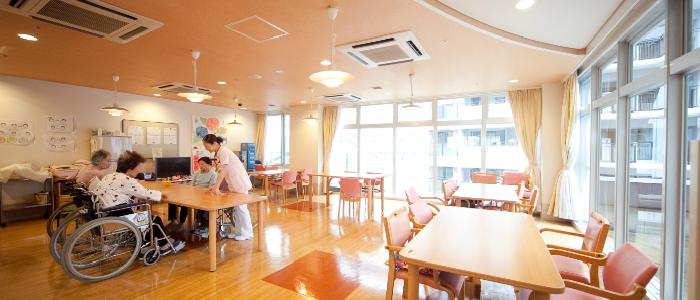 福岡市博多区の新吉塚病院 病棟 食堂談話室